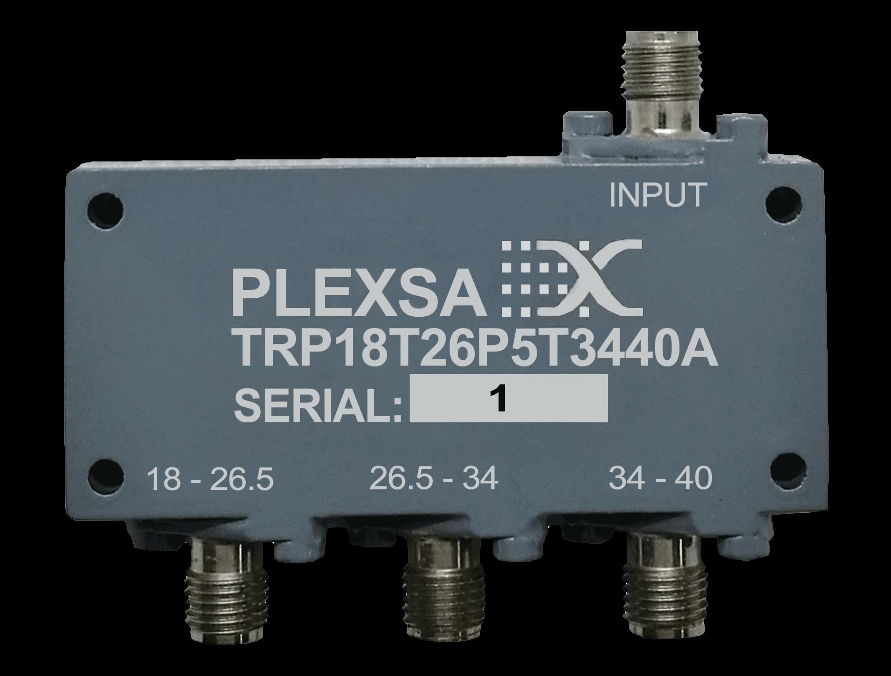 Triplexer 18 - 26.5 - 34 - 40 GHz